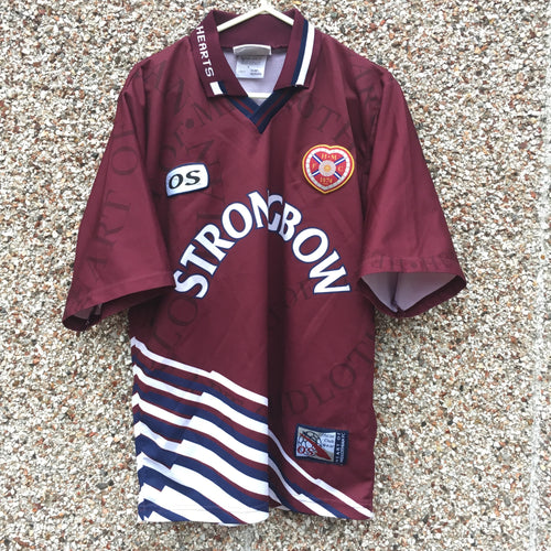 1998 1999 Heart of Midlothian home Football Shirt - S