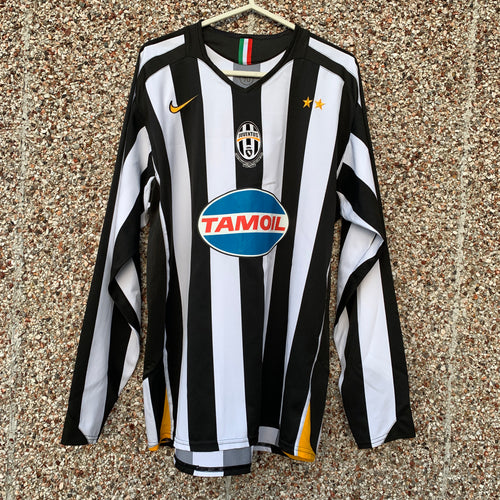 2005 2006 Juventus home L/S football shirt - L