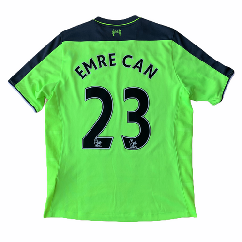 2016 17 LIVERPOOL THIRD FOOTBALL SHIRT #23 EMRE CAN - M