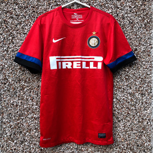 2012 2013 INTER MILAN AWAY FOOTBALL SHIRT - S