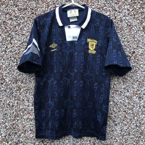 1991 1994 Scotland home Football Shirt - S