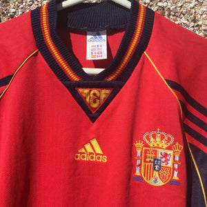 1998 1999 Spain home Football Shirt - M