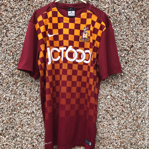 2015 2016 Bradford City home football shirt - M