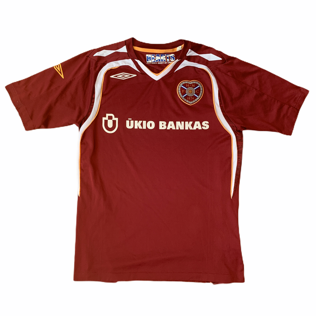 2007 08 HEART OF MIDLOTHIAN HOME FOOTBALL SHIRT - XL