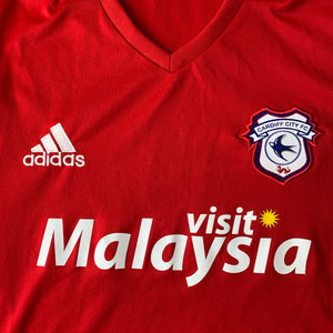 2016 17 CARDIFF CITY AWAY FOOTBALL SHIRT - M
