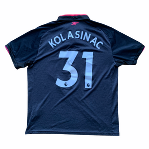 2017 18 ARSENAL THIRD FOOTBALL SHIRT #31 KOLASINAC - L