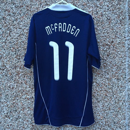 2010 2011 Scotland home Football Shirt #11 McFADDEN - S
