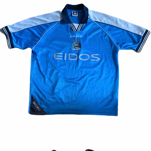 1999 2001 MANCHESTER CITY HOME FOOTBALL SHIRT- XL