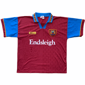 1995 96 BURNLEY HOME FOOTBALL SHIRT - L