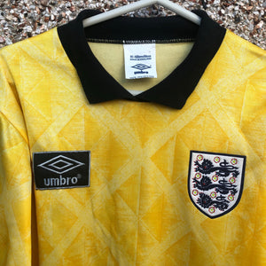 1990 1991 England Goalkeeper Football Shirt - S