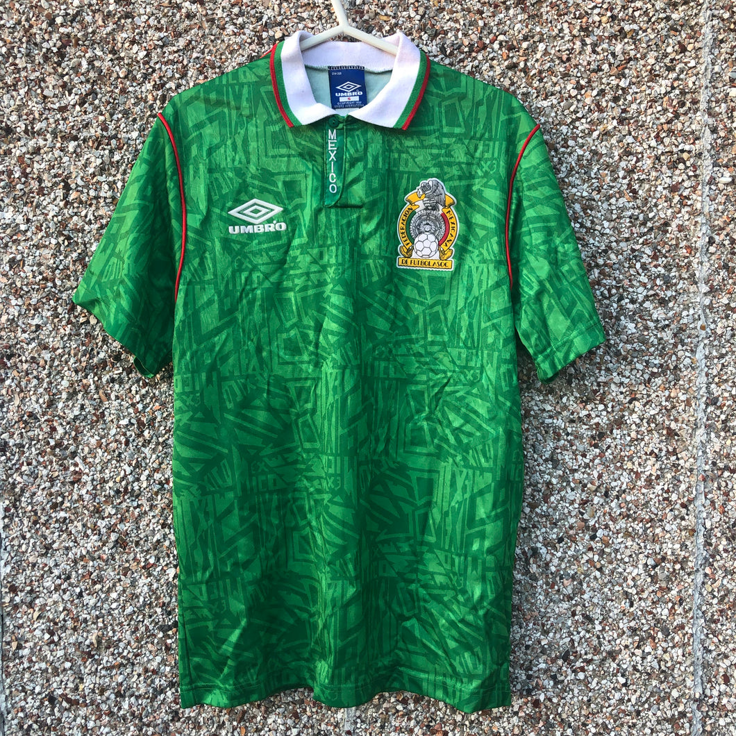 1993 1994 Mexico home Football Shirt - S