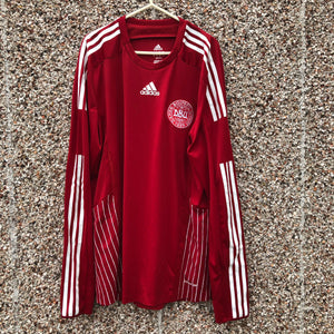 2008 2010 Denmark home Football Shirt LS - XL