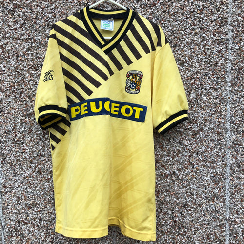 1989 1991 Coventry City away Football Shirt - L