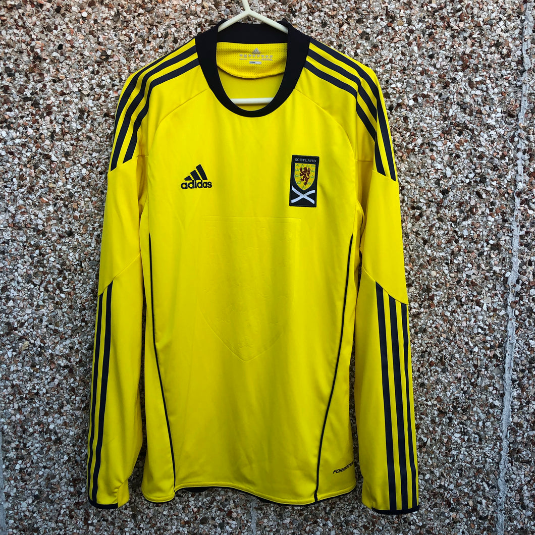 2010 2011 Scotland away PLAYER ISSUE Football Shirt L/S - S