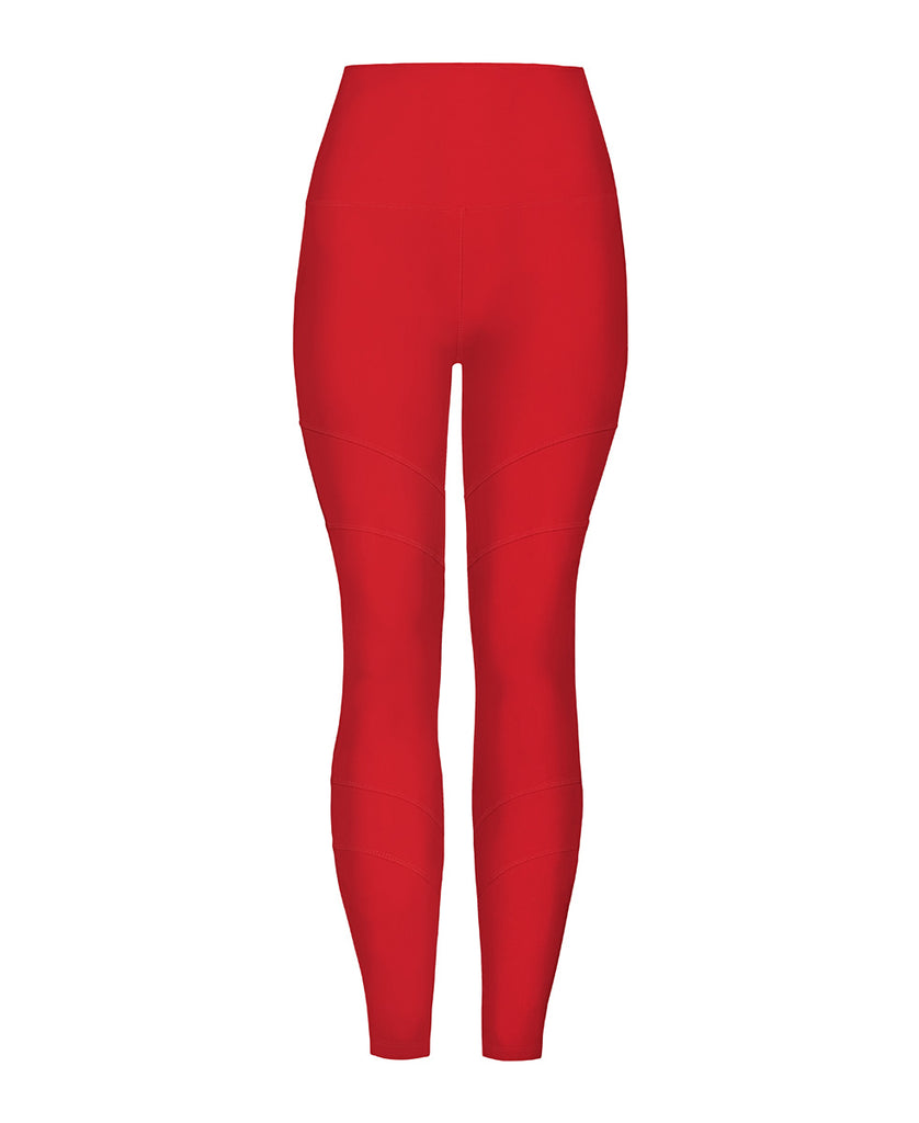 Artemis Recycled Yoga Legging - Cherry Red