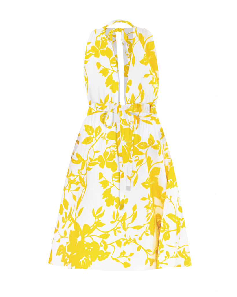 Pheme Silk Taffeta Dress - Sunny Floral
