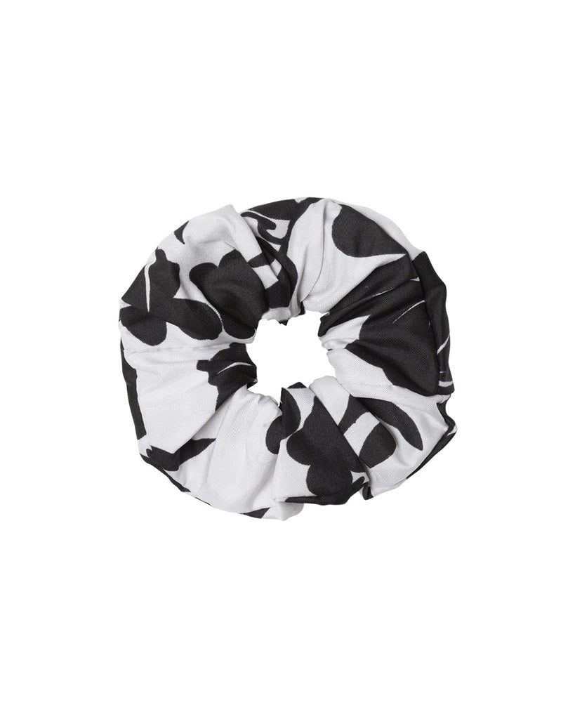 Silk Scrunchie - Black Floral