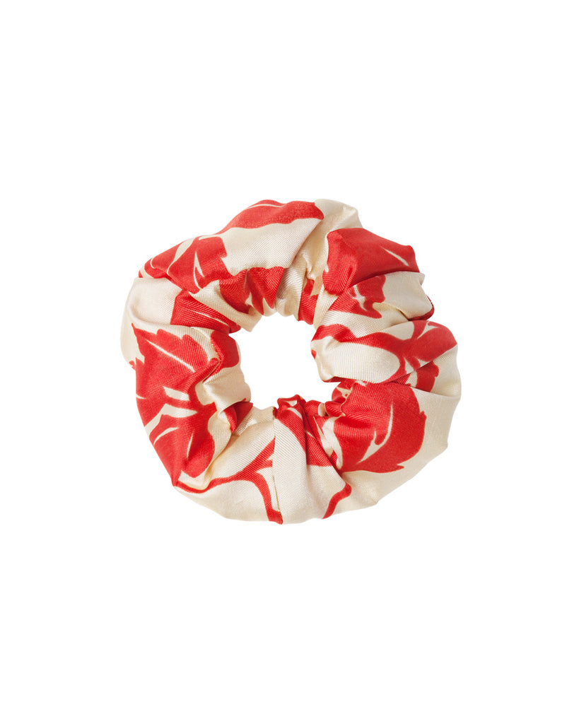 Sol Silk Scrunchie - Red Floral