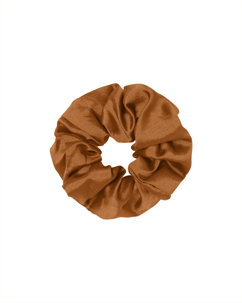 Sol Silk Scrunchie - Terracotta
