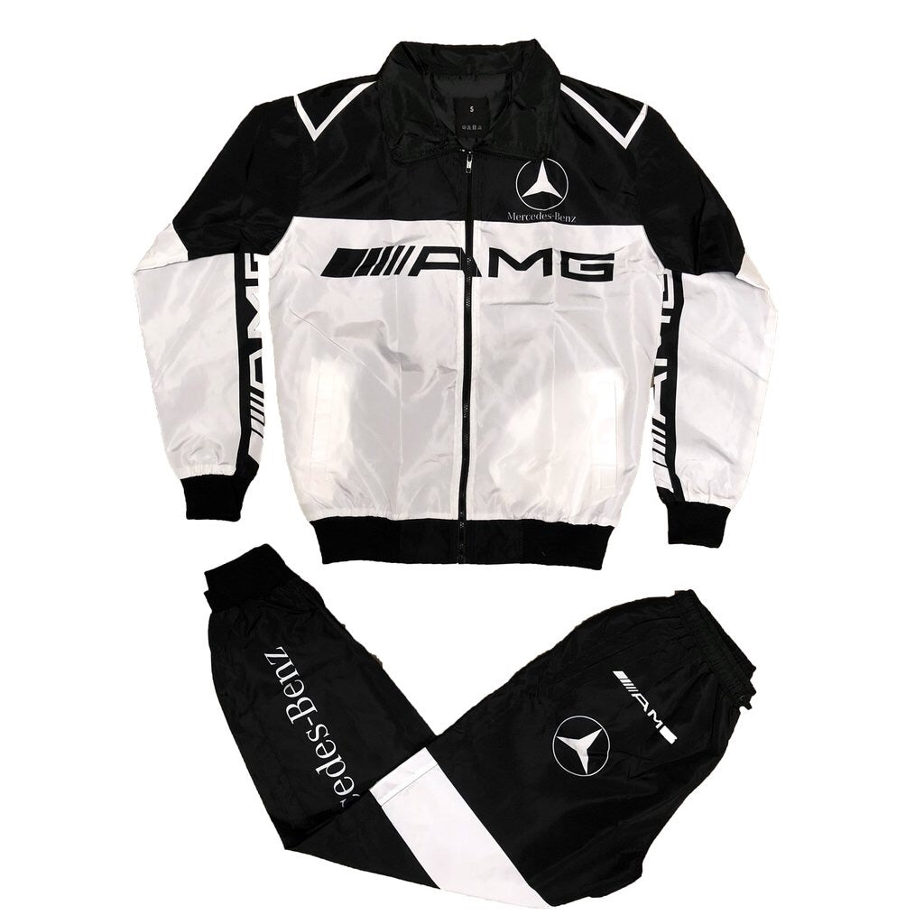 AMG Windbreaker Set (White/Black)