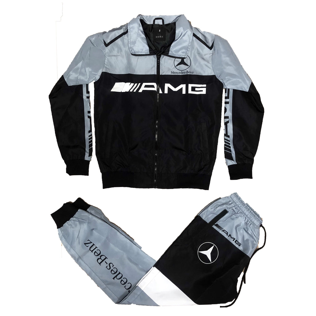 AMG Windbreaker Set (Grey/Black)