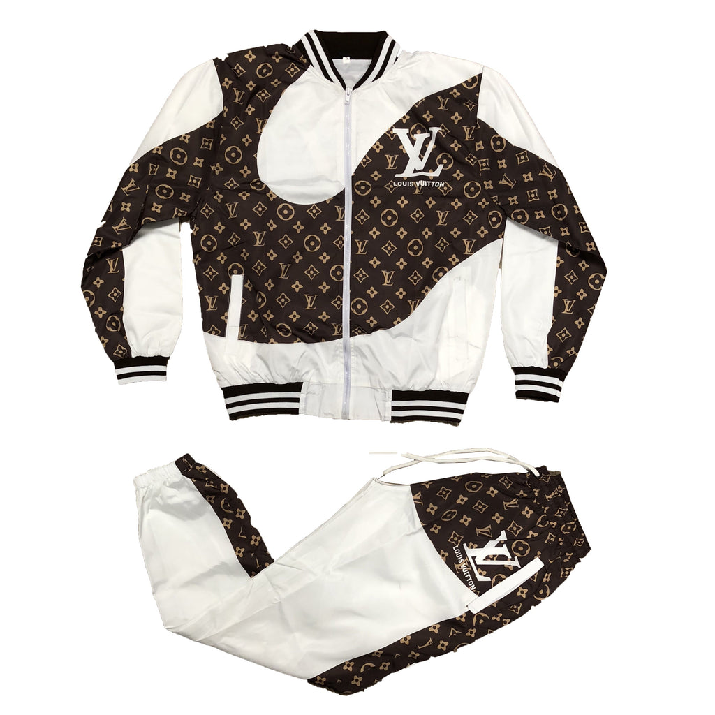 Inspired Windbreaker Set (White)