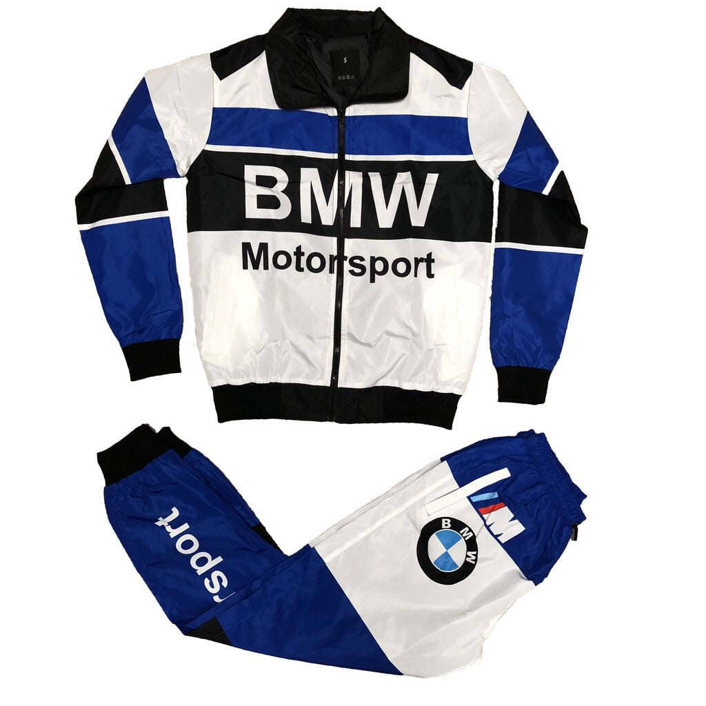 Motorsport Windbreaker Set (White/Blue)
