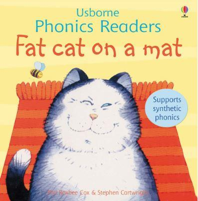 Fat Cat on a Mat (Usborne Phonics Readers) by Phil Roxbee Cox