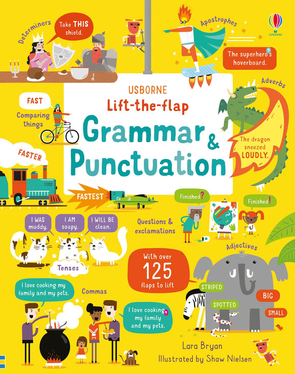 Usborne Lift-the-Flap Grammar and Punctuation by Lara Bryan