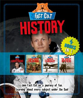 Fact Cat- History bind-up (Amelia Earhart, Christopher Columbus, Neil Armstrong & The Wright Brothers) - 4 books in 1 by Jane Bingham