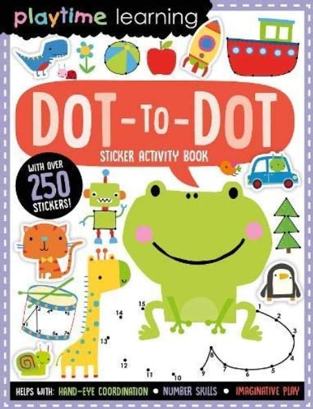 Playtime Learning Dot-To-Dot (Sticker Activity Book) by Make Believe Ideas