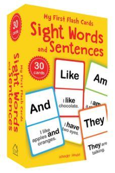 My First Flash Cards: Sight Words and Sentences by Wonder House Books