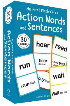 My First Flash Cards: Action Words and Sentences by Wonder House Books