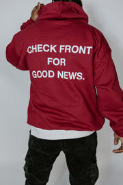 """RED COLLECTION"" Premium ""Check Front"" Hoodie"