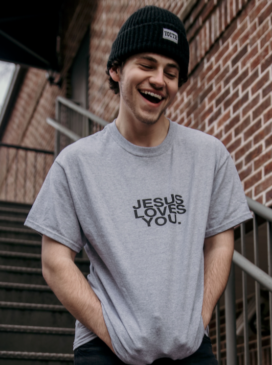 Jesus Loves You Logo Tee