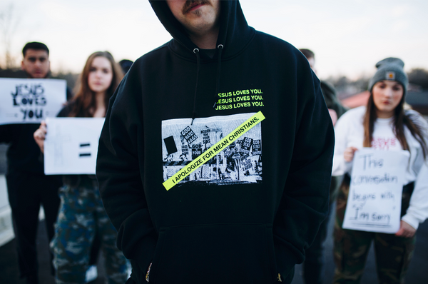 """APOLOGIZE"" Graphic Champion Hoodie"