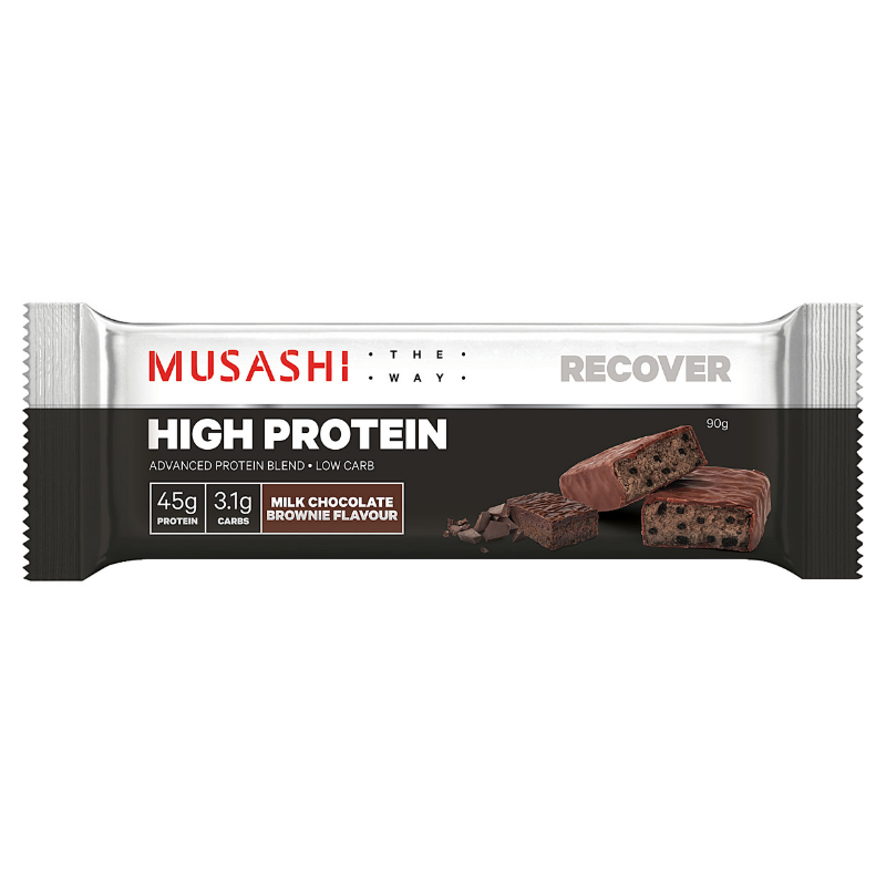 Musashi High Protein Milk Chocolate Brownie 90g