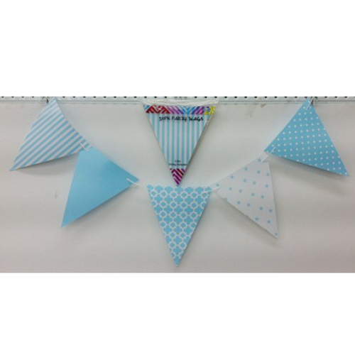 Party Flags Blue 50pk