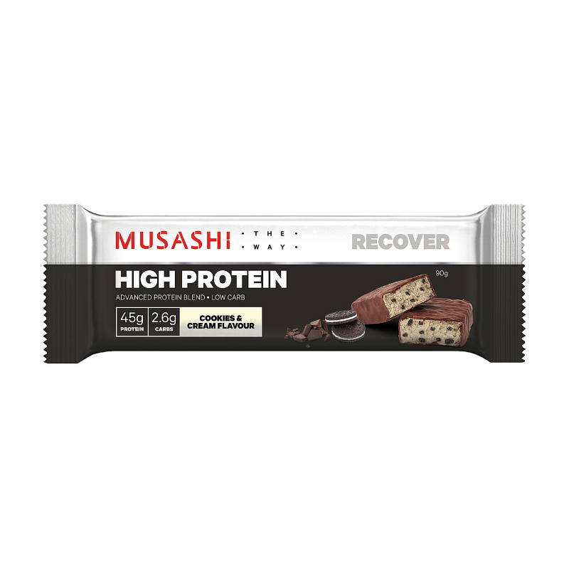 Musashi High Protein Cookies and Cream 90g