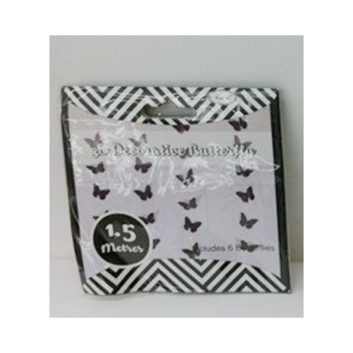 Butterfly Garland Black 3D 1.5m