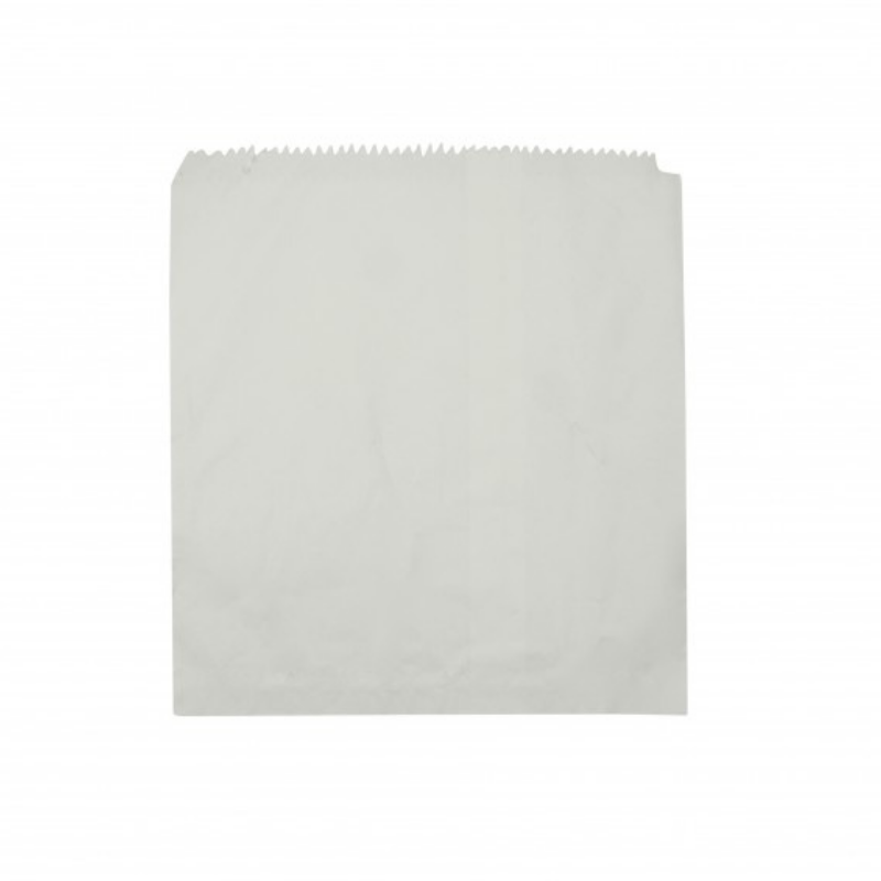 White Paper Bags- 235mm x 200mm- 500pcs