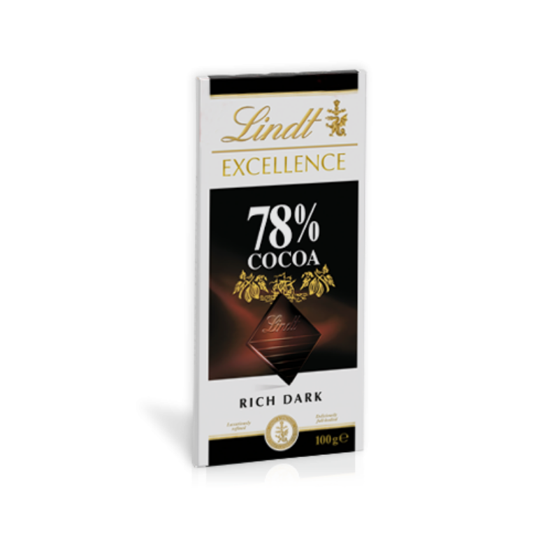 Lindt Excellence 78% Cocoa Rich Dark 100g