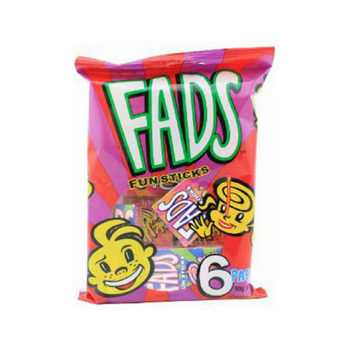 Fads Fun Sticks 15g 6pk