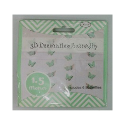 Butterfly Garland Green 3D 1.5m