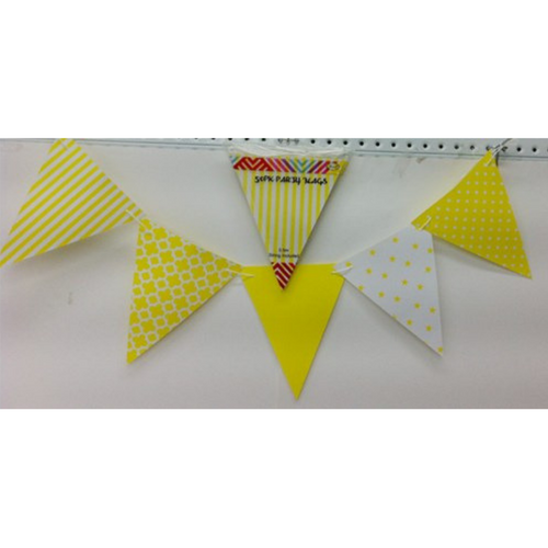 Party Flags Yellow 50pk