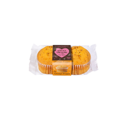Great Temptations Orange & Poppy Muffin 2pack