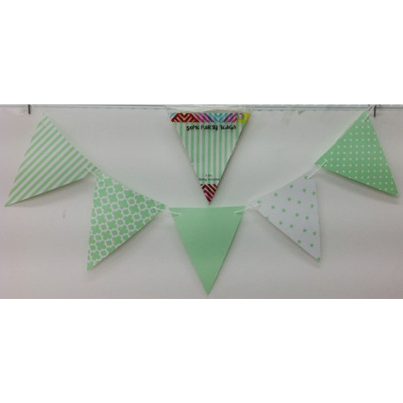 Party Flags Green 50pk