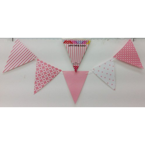 Party Flags Pink 50pk