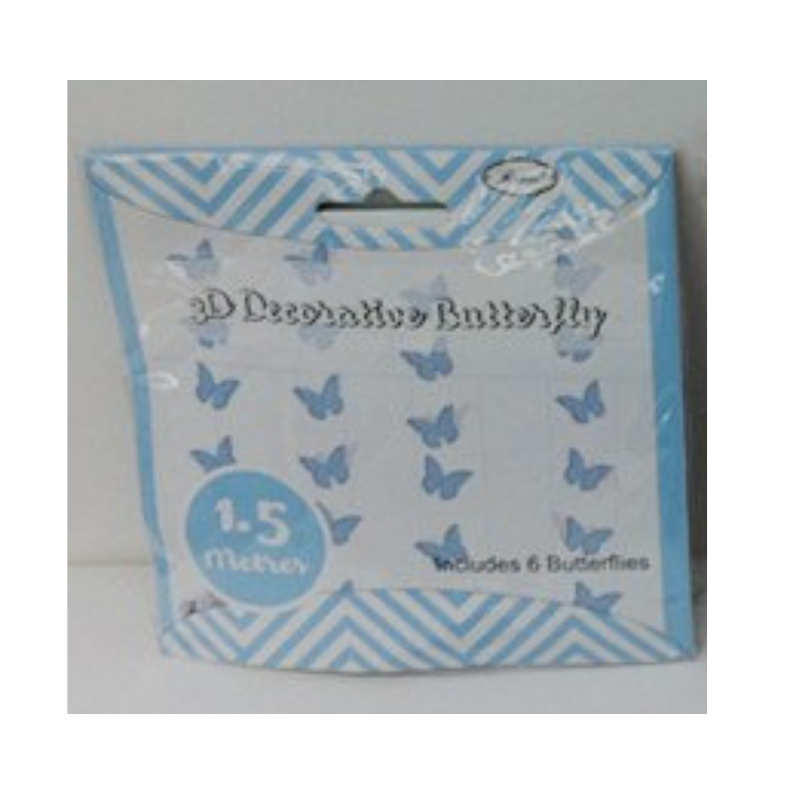 Butterfly Garland Blue 3D 1.5m