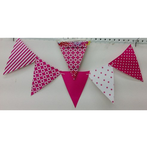Party Flags Hot Pink 50pk